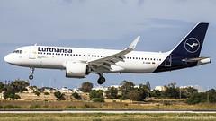 Malta International Airport (Redeemer_Saliba) Tags: lufthansa airbus a320271n dainm landing lmml luqa airport rwy 31