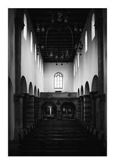 At the mystic Hall (Thomas Listl) Tags: thomaslistl blackandwhite biancoenegro noiretblanc monochrome dark 35mm light indoor church churchinterior mood hall architecture windows lowlight ngc stburkard