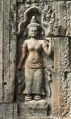 Angkor Temple Figure (oldbourbonguy) Tags: angkorthom cambodia siemreap siemreapprovince