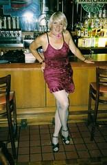 My Wilder Side, 2006 Version (Laurette Victoria) Tags: red dress blonde laurette woman choker