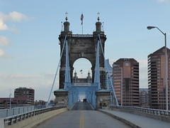 Cincinnati, OH and Covington, KY Roebling Bridge (army.arch) Tags: cincinnati ohio oh roebling bridge suspension historic historicpreservation nrhp nationalregister nhl nationalhistoriclandmark nationalregisterofhistoricplaces