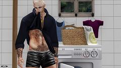 [FKD] Group Gift (Laundry Day) (Lucius Starfall (Starfall Studios)) Tags: blog blogging fkd gabriel realevil letlutka signature gianni straydog stealthic ikon fashion secondlife sensual sl lgbtq gay digital bento bdsm blond groupgift shane zebra rp hair photography thankyou