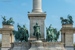 DSC7118 Monumento del Milenio, Plaza de los Héroes, Budapest, Hungría (Ramón Muñoz - Fotografía) Tags: hungría budapest buda pest monumento del milenio plaza de los héroes