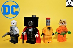 DC Figs - Vol. 2 (HaphazardPanda) Tags: lego figs fig figures figure minifigs minifig minifigures minifigure purist purists character characters comics comic book books story group super hero heroes superhero superheroes dc justice league batman great white shark camera the eraser copperhead mister mr