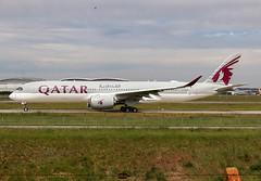 F-WWTW Airbus A350 Qatar Airways (@Eurospot) Tags: fwwtw airbus a350 a350900 qatarairways toulouse blagnac a7amk