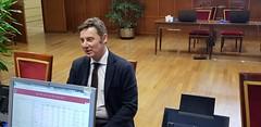 Miguel Fidalgo, senador electo del Partido Popular por Pontevedra, entrega su credencial en el Senado