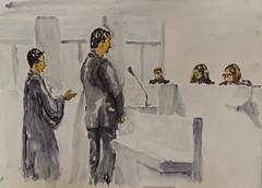 Palais de justice de Lorient (christian angué) Tags: justice tribunal accusé avocat juge procureur morbihan bretagne aquarelle croquis personne vivant