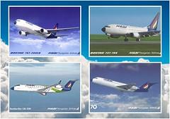 A MALÉV által kiadott utolsó hivatalos képeslap-sorozat (KristofCs) Tags: malev postcard boeing bombardier fokker f70 737 767 képeslap aviation airline 737700