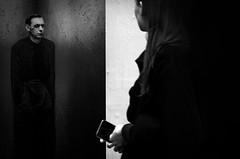 mind the gap (Gerrit-Jan Visser) Tags: bewerkt streetphotography berlin bnw blackandwhite rammstein poster woman mind gap love loss