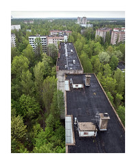 G H O S T - TO W N (Andrew Hocking Photography) Tags: ghosttown chernobyl pripyat ukraine abandoned derelict city urbex rooftop birdseye view trees nature winning cloudy may appartments forest woods overgrown