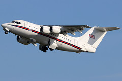 ZE701_05 (GH@BHD) Tags: ze701 bae146 bae146cc2 raf royalairforce no32sqn 146100 146 britishaerospace aircraft aviation a airliner vip military transport bhd egac belfastcityairport