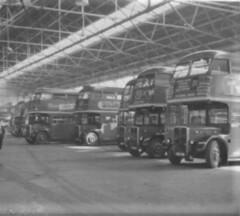London transport Norbiton bus garage 1950's. (Ledlon89) Tags: rt rtbuses bus aecregent aec regent lt lte londontransport london buses londonbus londonbuses vintagebuses busgarage 1950s