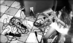 Why hide Your Wires? (by:GlitterPrincess Destiny ~Storie's~ (GlitterPrincess Destiny (in SL) Black Label Exhibi) Tags: diner glitterprincess destiny wires bike smoke cute stories tralala moments bw photographs trip visit sl strange