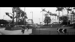 rider in the city (Steve only) Tags: welta weltini ii schneiderkreuznach xenon 120 f5cm 502 50mm f20 rf rangefinder foldingcamera 老折 fujifilm fujicolor c200 200 film epson gtx970 v750 snaps bw monochrome peopleinthecity 黑白 bikes bicycle 單車