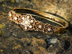 Rock Solid (clarkcg photography) Tags: bracelet rock jewels gold design lookingcloseonfriday