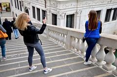 Taking Photos On The Rialto Bridge (Joe Shlabotnik) Tags: venice takingphotos italy 2019 april2019 venezia italia bridge rialto afsdxvrzoomnikkor18105mmf3556ged