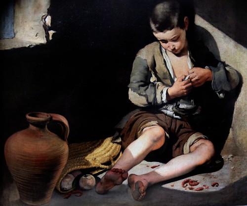 IMG_8511F Bartolome Esteban Murillo. 1618-1682.   Le Jeune mendiant.     The young beggar.  1650.  Louvre