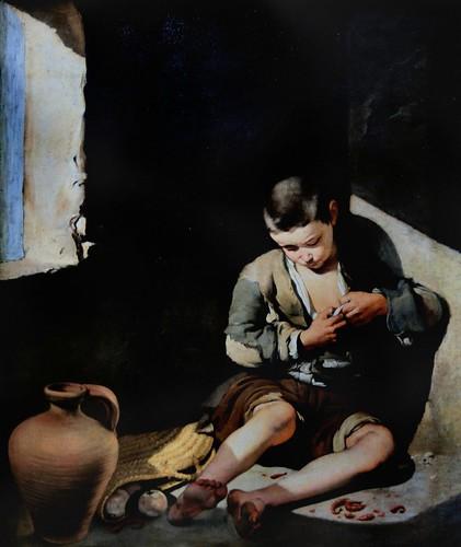 IMG_8511E Bartolome Esteban Murillo. 1618-1682.   Le Jeune mendiant.     The young beggar.  1650.  Louvre
