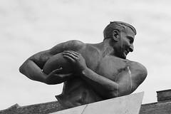 The Flying Prince (oddbodd13) Tags: publicart statue alexanderobolensky александроболенский obo fyingprince flyingslav rugby pilot monochrome