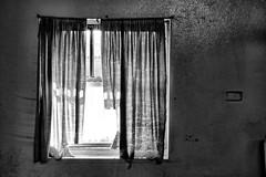 Curtain in a window. (Ian Ramsay Photographics) Tags: maitland newsouthwales australia maitlandgaol inmates curtains window shattered dreams men future jail prison