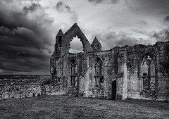 The abbey ruins (Tim Ravenscroft) Tags: abbey ruins architecture medieval haughmond shrewsbury england hasselblad hasselbladx1d monochrome blackandwhite blackwhite