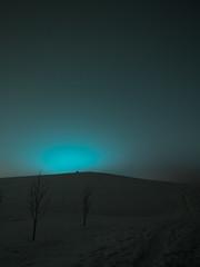 Fake Auroras (lassiveh) Tags: snow light winter night aurora fake joensuu finland hill