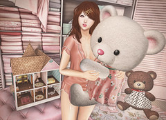 Me & Teddy (Gabriella Marshdevil ~ Trying to catch up!) Tags: sl secondlife cute kawaii doll semotion ayashi moonelixir lagom