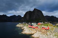 20180827-Canon EOS 6D-5373 (Bartek Rozanski) Tags: hamnoy nordland norway moskenesoya village fishing cabin red rorbu mountain lofoten norwegian coast arctic sea moskenesøya norge noreg hamnøy