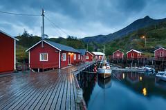 20180826-Canon EOS 6D-5146 (Bartek Rozanski) Tags: nusfjord nordland norway norwegian lofoten village fishing boat evening night cabin rorbu red arctic sea flakstadøya norge noreg flakstadoya