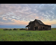 Life as a house (Gordon Hunter) Tags: sunrise color open view morning airy house home shack shed abode angular angle abandoned derelict decay wood weathered shingles shakes grass field prairies country rural clouds sky ab canada gordon hunter nikon d5000 landscape