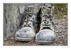 These Boots (Seven_Wishes) Tags: newcastleupontynenortheast gateshead watergateforestpark canoneosm5 canonef24105mmf4lisii outdoor photoborder jo 2019 boots workingboots sculpture newcastleupontyne tyneandwear uk