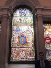 Central Panel of Grand Staircase Window (Autistic Reality) Tags: inside interior indoors window staircase main mainstaircase staircasewindow mainstaircasewindow statehouse state house statecapitol massachusettsstatehouse suffolkcounty ma massachusetts commonwealthofmassachusetts unitedstates unitedstatesofamerica usa us america newengland history historiclandmark americana landmark government offices governmentoffices stategovernment architecture building structure grand grandstaircase boston cityofboston freedom trail freedomtrail 2019