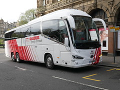 City Circle of Newbridge Scania K410EB6 Irizar i6s YT19EFO 108, in Globus Tours vinyls, at South St David Street, Edinburgh, on 9 May 2019. (Robin Dickson 1) Tags: citycircle busesedinburgh scaniak410eb6 irizari6s yt19efo globustours
