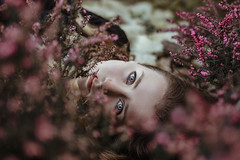 Grown with me (Enrico Cavallarin) Tags: girl spring portrait portraiture eyes blue blueeyes blueeyed season flowers violet garden expression ethereal dreamy