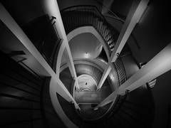 ... vertiginously... (*ines_maria) Tags: spiral staircase abstract stairs business circle circular art building climb construction curve design down geometric handrail high home indoors infinity interior ladder light lose maze oval perspective railing rotate round screw shape snail stair stairway step structure swirl tall tower turn twist up urban vertical walking way white wooden momochrome bw panasonicdcgh5 gh5 blackandwhite city