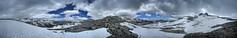 Snowy Donahue Pass Panorama - John Muir Trail (Bruce Lemons) Tags: sierra sierranevada mountains backpacking hike hiking wilderness landscape california anseladamswilderness yosemitenationalpark jmt johnmuirtrail donahuepass snow yos yosemite