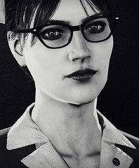 """Good nurse"" (L1netty) Tags: theevilwithin tangogameworks bethesdasoftworks bethesda pc game gaming video reshade screenshot virtual digital 4k character tatiana girl female people portrait closeup face blackandwhite monochrome bw indoor"