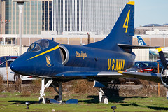 USN Blue Angels /A-4 Skyhawk (Hector A Rivera Valentin) Tags: 144930 us navy a4 skyhawk a4b proud bird restaurant los angeles international airport lax klax 4 blue angels