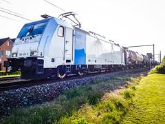 LINΞΛS 186 424 (ex 2863) met BASF trein @ Kermt (Hasselt) (Avinash Chotkan) Tags: lineas railpool br186 traxx trains belgium cargo