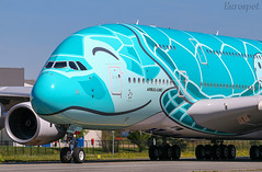 F-WWAF Airbus A380 All Nippon (@Eurospot) Tags: fwwaf ja382a airbus a380 ana allnippon toulouse blagnac