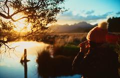 Great Barrier Island sunset, NZ (papasnap) Tags: zeissikon zeiss leica slidefilm e6 newzealand ektachrome kodak pushprocessed