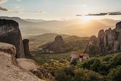 Meteora (AlexanderHorn) Tags: meteora greece europe unesco landscape sunset sunlight cloud cloudporn natura mountains rocks cliffs