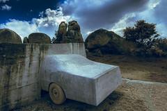 Wrong direction? (jcc90) Tags: nikon d3200 beginner art conceptual stone nature mind life spain barruecos vostell