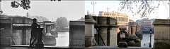 Blackfriars Bridge`1925-2019 (roll the dice) Tags: london city squaremile ec4 se1 old river thames dirty surreal changes collection urban england child uk classic art streetfurniture architecture canon tourism tourists oldandnew pastandpresent hereandnow bollards thameslink travel transport traffic grade2 listed lights wall blackfriars retro bygone lost history nostalgia comparison windows vanished demolished ludgate