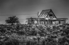 Kamp (donnieking1811) Tags: arizona dilapidated abandoned building blackwhite blackandwhite bw monochrome tree graffiti sky hdr canon 60d lightroom photomatixpro