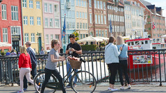 Nyhavn, Copenhagen (Joshua Khaw) Tags: copenhagen bike bicycle cycling pedestrian street people crowd walking nyhavn colour colourful denmark nordic scandinavia europe travel canon eos m3