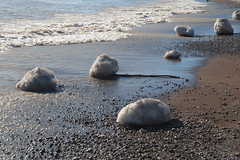 Ice Clumps (peterkelly) Tags: digital canon 6d northamerica wheatley ontario canada beach shoreline shore water lakeerie ice sand sandy