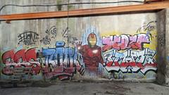 Iron Man (ostplp) Tags: exploration vintage ancien abandon abandonné électricité usine industriel industrie friche oublié forgotten decay urbex acierie steel mill graff graffiti tag
