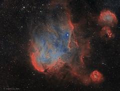 Running Chicken Nebula Version 2 (capella_ben) Tags: nebula runningchicken c100 ic2944 rcw62 ced118 narrowband space lambda astrometrydotnet:id=nova3390776 astrometrydotnet:status=solved