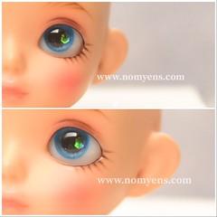 Crystal blue / 8 mm (♥..Nomyens..♥) Tags: bjd balljointdoll toy doll custom faceup paint painting painted repaint handmade nomyens nomyenscom dolleye resineye latiwhite